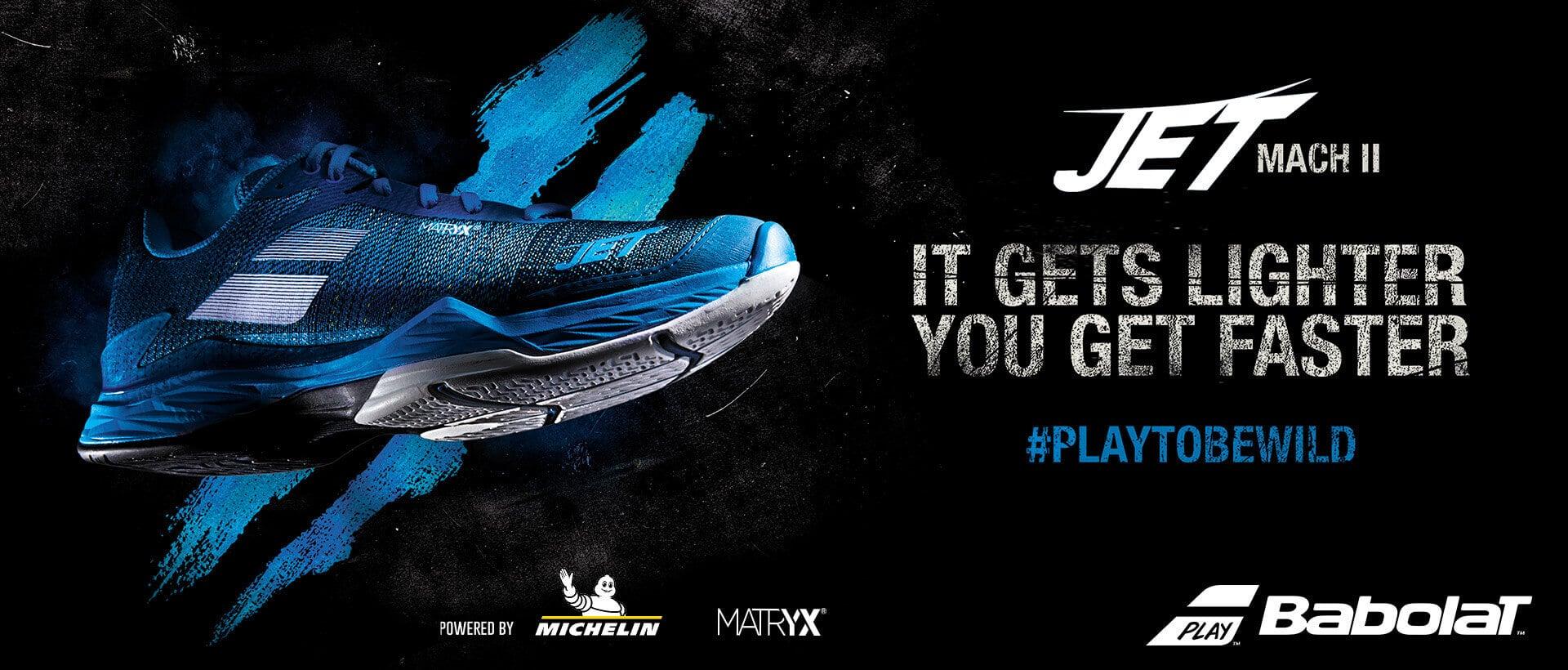Nowe buty tenisowe Babolat JET MACH II - one są lżejsze, ty coraz szybszy