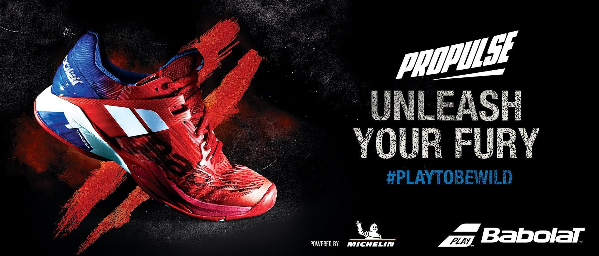 Nowe buty tenisowe Babolat Propulse FURY - uwolnij swoją furię
