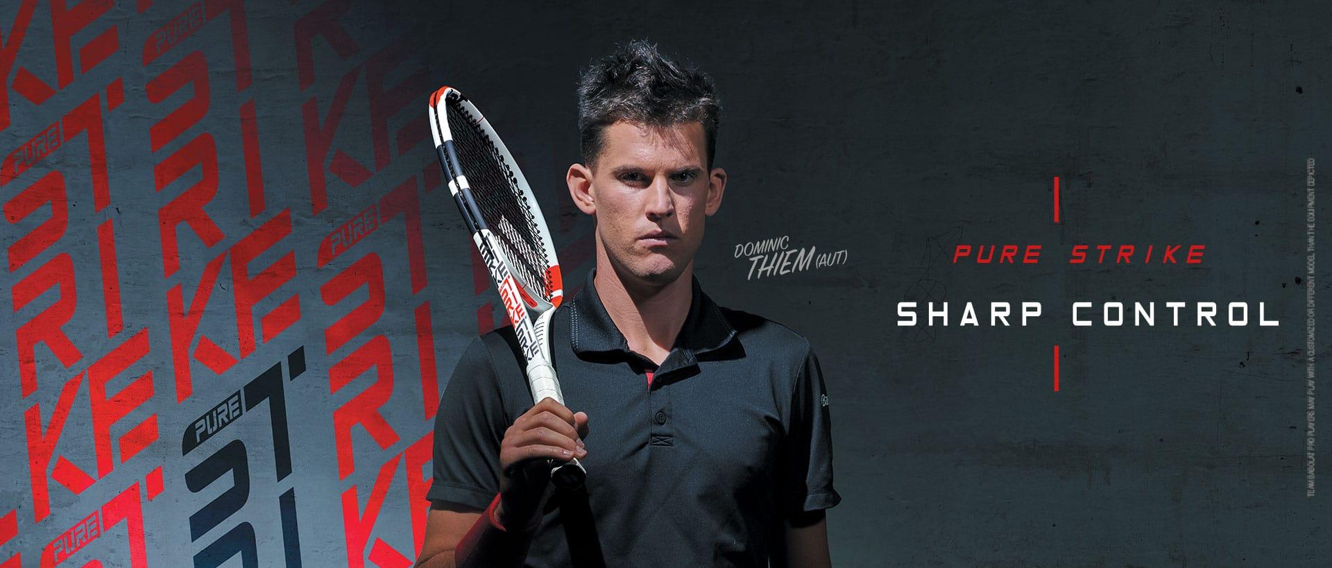 Rakieta tenisowa Babolat Pure Strike używana przez Dominica Thiema