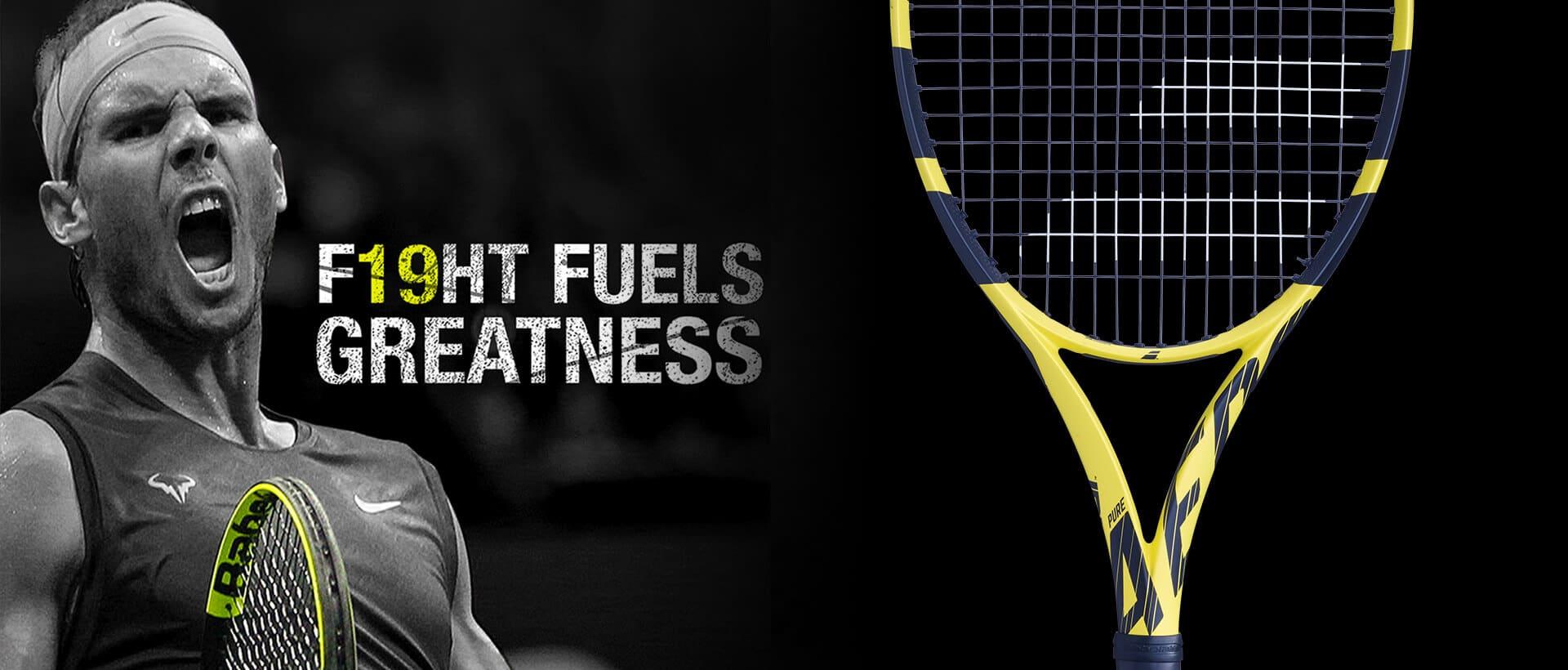 Rafael Nadal - zwycięzca US Open z rakietą Babolat Pure Aero